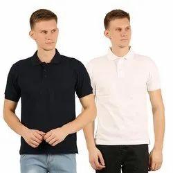 Mens Plain Collar Neck T-Shirt