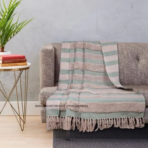 Single Bed Tufted Cotton Sofa Throw