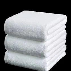 Mauria Cotton White Plain Hotel Towels, Rectangular