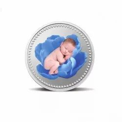 Newborn Baby MMTC Silver Coin 10 gm, Packaging Type: Box