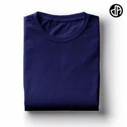 Plain Navy Blue 180 gsm Cotton T Shirt