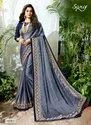Party Blue Royal Georgette Sarees