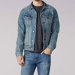 Full Sleeve Party Wear Mens Denim Jacket, Size: S to XL