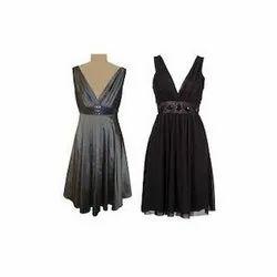 Georgette Plain Women Party Dress