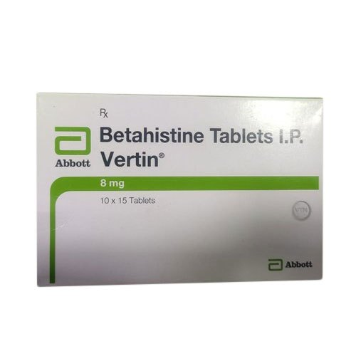 Betahistine 8mg Vertin Tablet, Packaging Size: 10 X 15 Tablets, Rs 93  /strip | ID: 21905277362