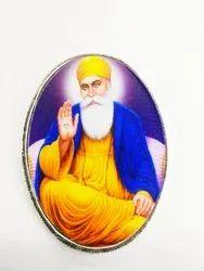 Guru Nanak Color Silver Coin 20 gm