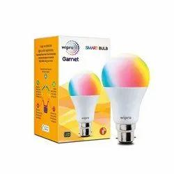 Chrome 10 W Ceramic Round 9W Wipro LED Smart Bulb
