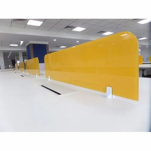 Yellow Plain Magnetic Glass