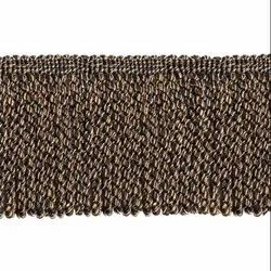 4.5 Inch Black Gold Swirl Bullion Fringe