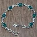 Malachite Gemstone 925 Sterling Silver Jewelry Men & Women