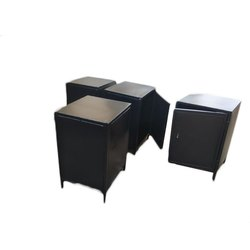 Black Paint Coated Steel Cabinet, 1, Size/Dimension: 2.5 X 2.5 X 3 Feet