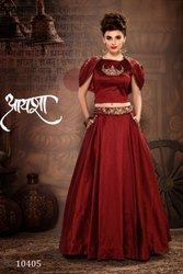 Fancy Designer Embroidery Lehenga Choli By Parvati Fabric