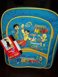 Multicolor Unisex School Bag