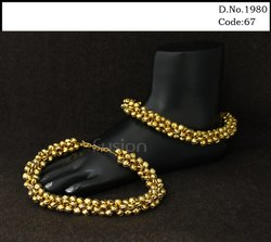 Traditional Antique Metal Ball Payal