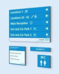 Acrylic Modular Directional Signage