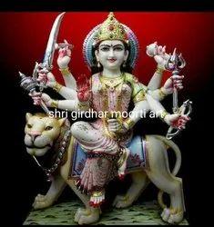 Durga Ma Marble Statue