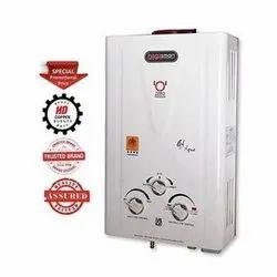 Instant Gas Water Heater Geyser, 5 Star, White