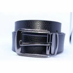 Cheetah Black Leather Belt