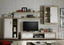 Brown Wall Mounted TV Unit, For Home