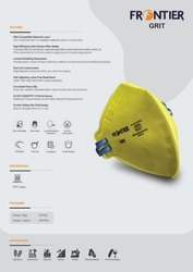 Yellow Reusable Frontier Grit Anti-Pollution Mask, Certification: Isi