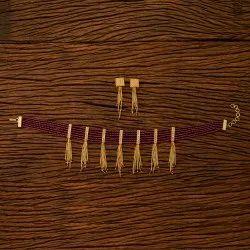 Antique Choker Necklace Set with Gold Plating 200509, Size: Reguler Size And Adjustable