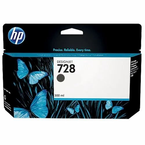 HP Ink Cartridge for Design Jet T728 Series - Matte Black, Thickness: 0-5 mm