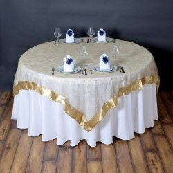 Fancy Table Covers With Top For Tent And Wedding