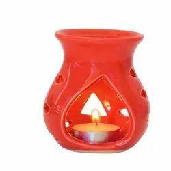 Round Red Soapstone Diffuser, Dimension: 8.5 X 8.5 Cm