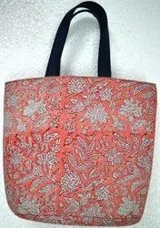 Hand Block Printed Shoulder Cotton Tote Bag