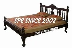SPE 20 Working Days Carving Teak Wood Cot, Size: King Size 78*72