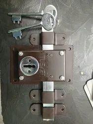 Iron Main Door Dus chaal lock (ten turn)