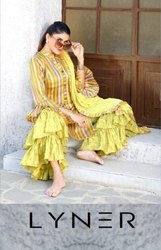 Your Choice Liner Jam Silk Sharara Style Salwar Kameez