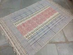 Hand Block Sanganeri Dabu Print Room Rug Carpet Floor Mat 4x6 Fit