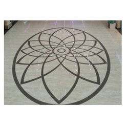 White Granite Inlay Floorings
