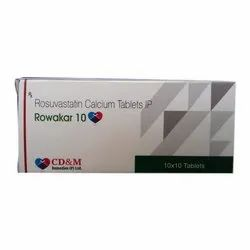 Rosuvastatin Calcium Tablets IP, Packaging Type: Box, 10 X 10 Tablets