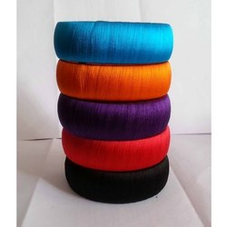 Neon Color Broad Silk Thread Bangles