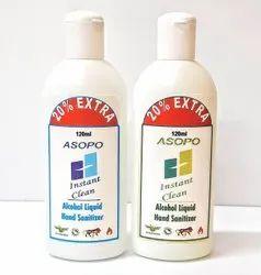 Asopo Alcohol Liquid Hand Sanitizer - 120ml