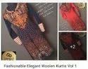Fashionable Elegant Woolen Kurtis