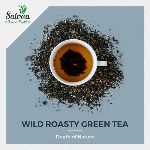 Wild Roasted Green Tea Leaves