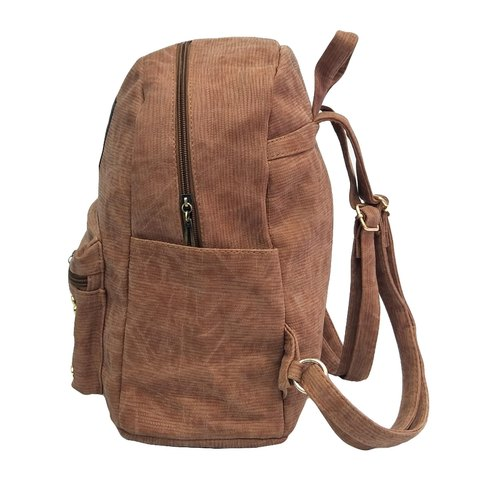 PU Leather Brown Girls Backpack