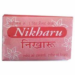 Nikharu Blue 100 Gm Dishwash Bar, Packaging Type: Box