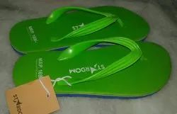 Men Green Rubber Slipper