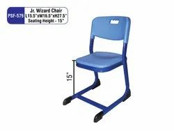 Blue Without Hand Rest (Without Arms) PSF-579 Junior Wizard Chair For Schools