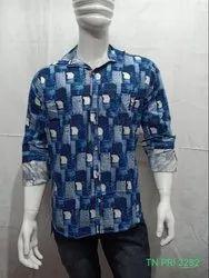 Regular Wear Cotton Western Style Long Sleeve Check Shirt, Machine wash