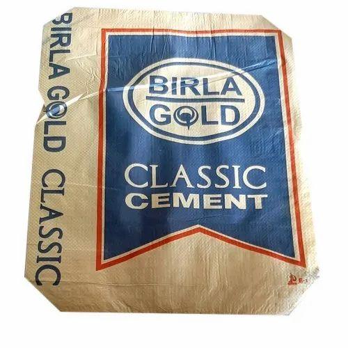 White Misprinted Block Bottom Valve Empty Cement Bags