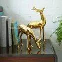 Brass Dear Statue