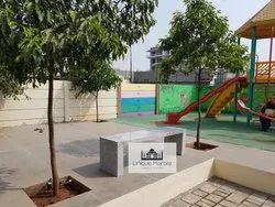 Granite garden bench