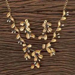 Designer Gold Plating Handmade Necklace 406301