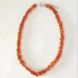 Orange Gemstone Bead Necklace Jewelry - Mexican Fire Opal