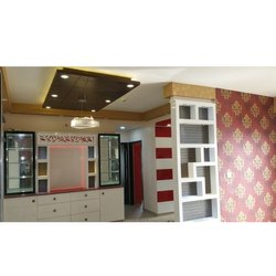 Modular Kitchen & Wardrobe Residential Interior Designing Service, Work Provided: Wood Work & Furniture